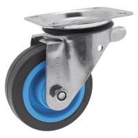 Roulettes pivotantes sur platine roue Résilex® pour charges lourdes - Maxiroll