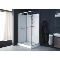 Cabine de douche rectangulaire à porte coulissante + 2 vantaux fixes Kara
