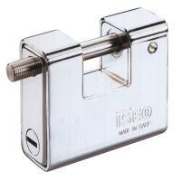 Cadenas à clés pour cylindre européen blindé corps acier chromé anse inox Boxer