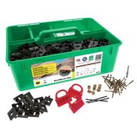 Kit de fixation invisible inox A2 Hardwood Clip Pro