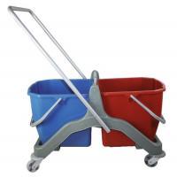 Chariot de ménage à double bacs 2 x 20 litres