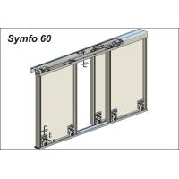 Vantail de 60 kg pour portes de meubles - Symfo - Caches pour rail de guidage inférieur
