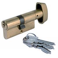 Cylindres passe général - laiton poli - doubles à bouton TE 5 - LP - variés pour organigramme