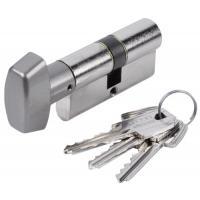 Cylindre double de sûreté à bouton - Profil européen s entrouvrant sur numéro - Laiton nickelé - Série TE-5