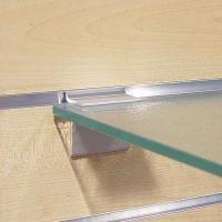 Consoles tablette verre alumium anodisé pour panneaux rainurés