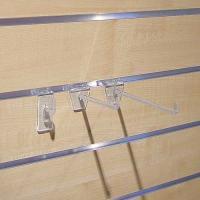 Crochets simples plastique pour panneaux rainurés