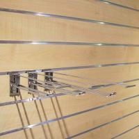 Crochets doubles avec porte-prix pour panneaux rainurés
