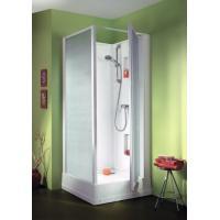 Cabine de douche IZIBOX carrée porte pivotante