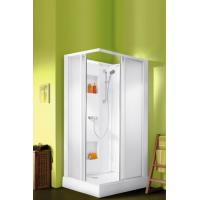 Cabine de douche IZIBOX rectangulaire portes coulissantes