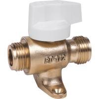 Robinet droit M/M d'installation intérieure à joint plat gaz
