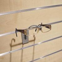 Porte-lunettes pour panneaux rainurés
