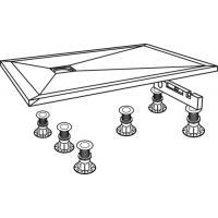 Système de pieds pour receveurs ≤ 140 cm