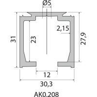 Vantail de 40 kg et 80 kg - Série Expert au détail - Rails