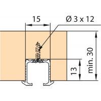 Vantail de 16 kg - Clipo 16 pour porte en bois - Rails de roulement à encastrer, à visser