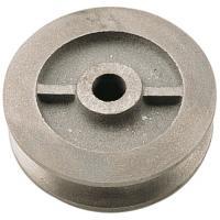 Galets en fonte à gorge carrée pour porte coulissante sur fer plat