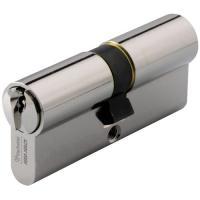 Cylindre double de sûreté - Profil européen s entrouvrant en Laiton nickelé - Série 7001