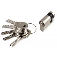 Cylindre simple de sûreté - Profil européen s'entrouvrant en Laiton nickelé mat sur numéro AGL 697 - Série R6