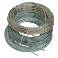 Câbles âme métallique gainés PVC, 7 torons de 19 fils - Inox / PVC Translucide