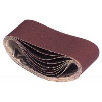 Abrasifs en bandes courtes 100 x 610 mm toile rigide corindon KK 504 X