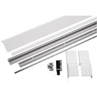 Profils Blanc en kit pour coulissantes à translation menuiserie bois et PVC GU 966