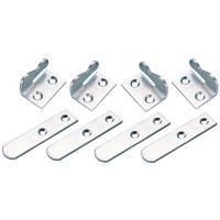 Agrafes picardes coudées - ensemble de 8 agrafes acier inox A4 pour volet battant