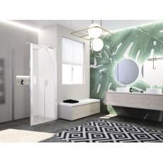 Paroi de douche fixe latérale pour porte cadrée Paama