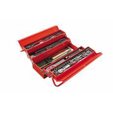 Composition 113 outils avec caisse à outils métal - CP-113BOX + 1 batterie nomade offerte