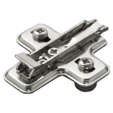 Embases cruciformes en acier à clipser avec tourillons - pour charnières série 100, 200, 700, B et F