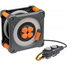 Enrouleur de câble multiprises Cube avec Powerblock