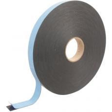 Joint adhésif double face mousse noir section 30 x 1 mm en rouleau de 66 m pour petits bois collés
