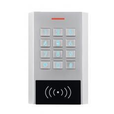 Clavier à code/badge à façade rétro éclairée type ECL, électronique intégrée