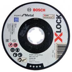 Disque à tronçonner métal moyeu plat Xlock
