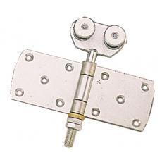 Roulettes doubles à charnière pour porte coulissante sur profil tubulaire