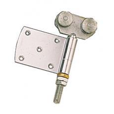 Roulettes doubles à demi-charnière pour porte coulissante sur profil tubulaire