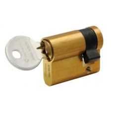 Cylindre simple de sûreté - Profil européen varié en Laiton poli - Série 5000