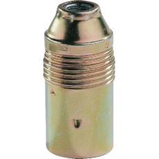 Douille E14 acier laitonné