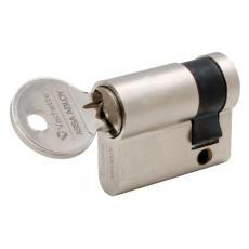 Cylindre simple de sûreté - Profil européen varié en Laiton nickelé - Série 5001