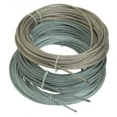 Câbles âme métallique 7 torons de 7 fils - Inox AISI 316 souples