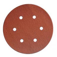 Abrasifs en disques papier corindon auto-agrippants perforés 6 trous KP508510 E