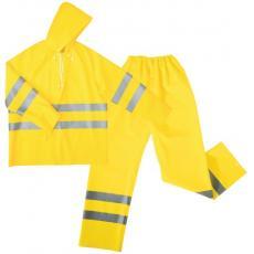 Ensembles de pluie haute visibilité PVC jaune fluo