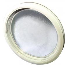 Hublot plastique rond à clipser pour portes coulissantes sur fer plat