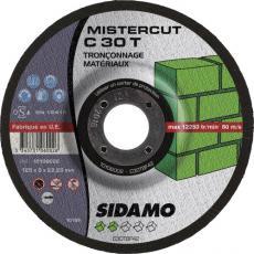 Disques à tronçonner moyeu déporté pour les matériaux Mistercut C30T