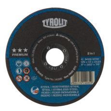 Disques à tronçonner métaux inox moyeu plat gamme technique Prémium, lot de 50 disques dont 5 gratuits