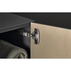 Charnières invisibles 110° amortisseur intégré pour portes fines - Sensys