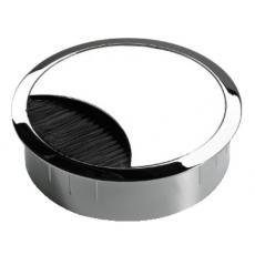 Passe-câbles zamak ronds Ø 60 mm à balai d'étanchéité