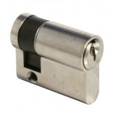 Cylindre simple de sûreté - Profil européen s entrouvrant sur numéro - Laiton nickelé - Série TE-5