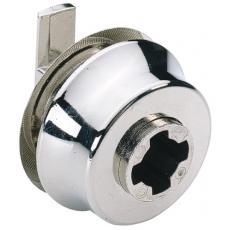Serrure de porte en verre type 326 avec fonction presser-tourner pour cylindre Z 23