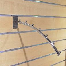 Bras incliné à crochets pour panneaux rainurés