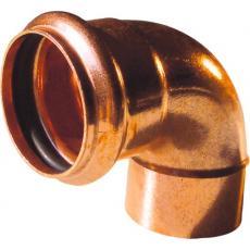 Coude cuivre 90° mâle à souder / femelle à joint torique