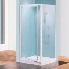 Paroi de douche fixe réversible pour pose avec porte en angle Riviera F